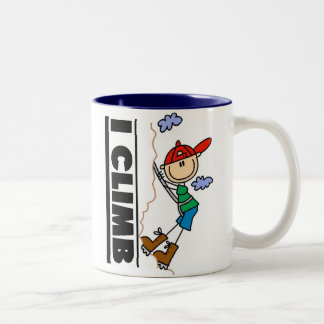 Mountain Climber I Climb  Two-Tone Mug