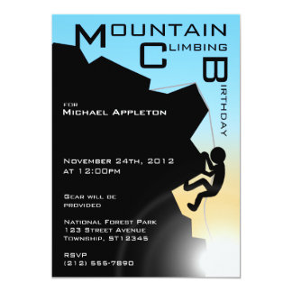 Mountain Climbing Birthday Invitations