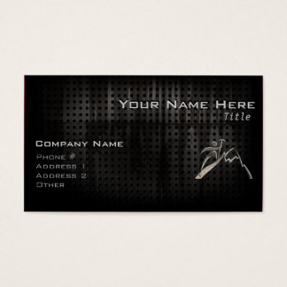 Mountain Climbing; Cool Black Business Card