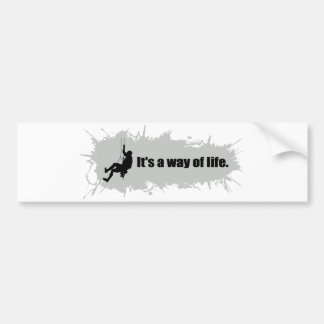 Mountain Climbing is a Way of Life Bumper Sticker
