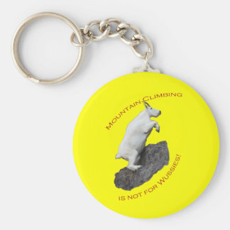 Mountain Climbing is not for Wussies Basic Round Button Key Ring
