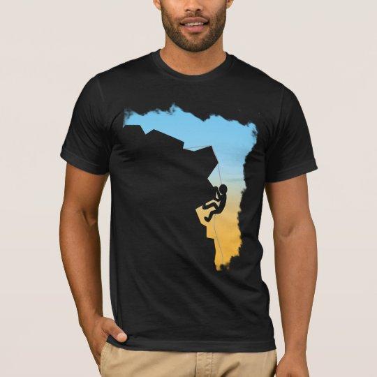 Mountain Climbing Silhouette Design T-Shirt