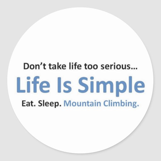 Mountain Climbing Stickers