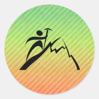 Mountain Climbing Classic Round Sticker