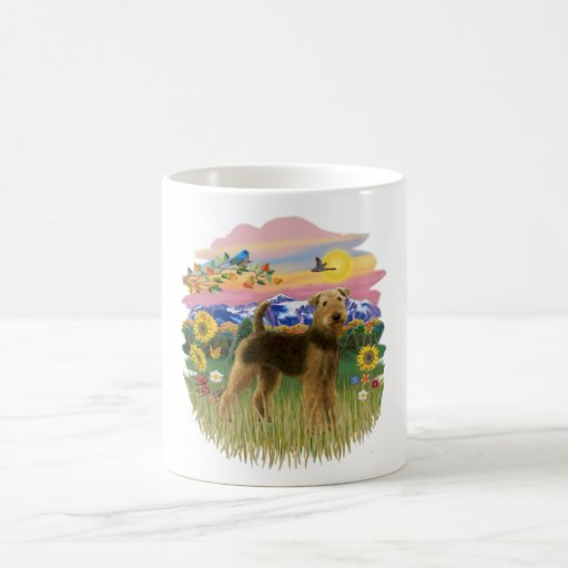 Mountain Country - Airedale (stand) Coffee Mug