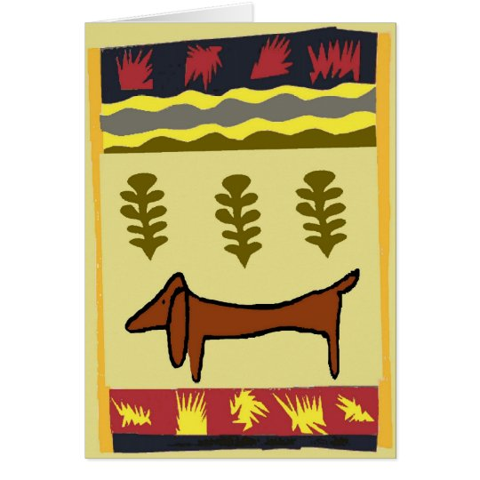 Mountain Dachshund Card