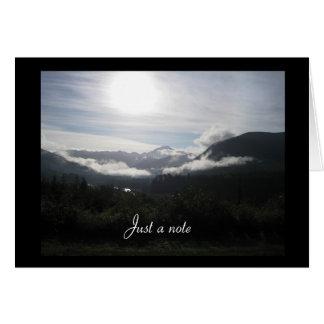 Mountain Dawn Just a Note Card