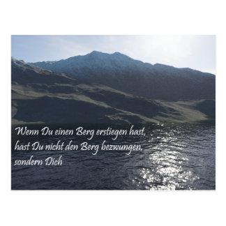 Mountain defeat postcards