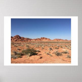 Mountain Desert Poster