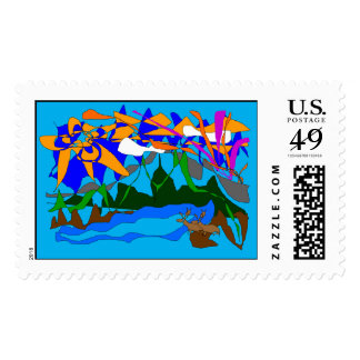 Mountain Dreams Postage Stamp- Summer