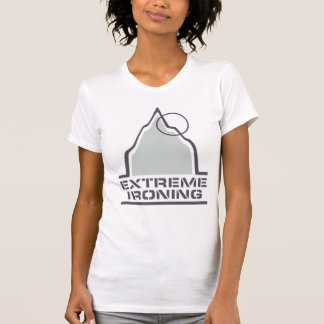 Mountain Extreme Ironing Ladies Destroyed T-Shirt