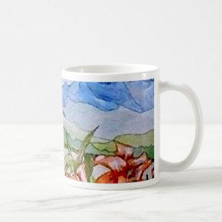 Mountain Floral - CricketDiane Art Basic White Mug