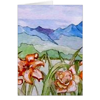 Mountain Floral - CricketDiane Art Greeting Card