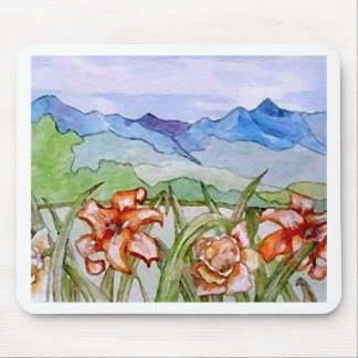 Mountain Floral - CricketDiane Art Mouse Pad