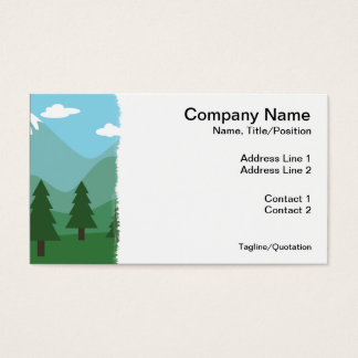 Mountain Forest Business Card