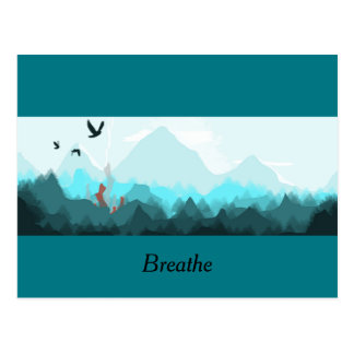 "Mountain Forest Postcard ""Breathe"""