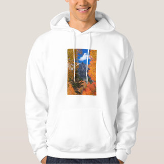 Mountain framed in fall foliage, CA Hoodie