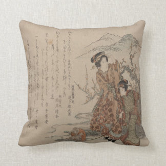 Mountain Geishas Throw Pillow
