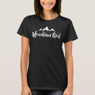Mountain Girl White Design T-Shirt