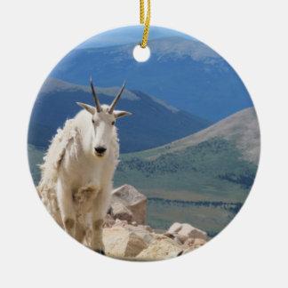 Mountain Goat Round Ceramic Decoration