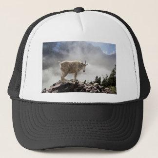 Mountain Goat on Gunsight Pass Trail Trucker Hat