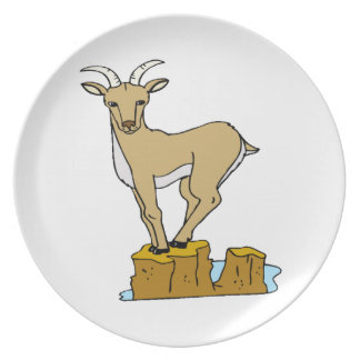 Mountain Goat Party Plate