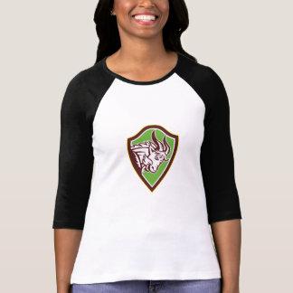 Mountain Goat Ram Angry Head Retro T-shirts