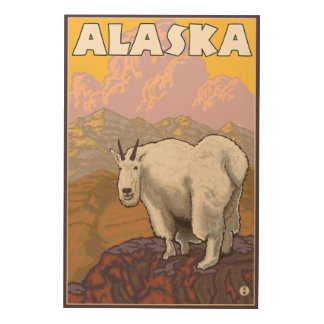 Mountain Goat- Vintage Travel Poster