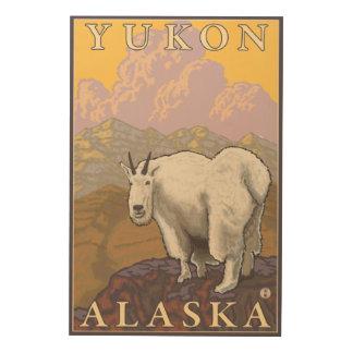 Mountain Goat - Yukon, Alaska Wood Wall Decor