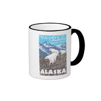 Mountain Goats Scene - Valdez, Alaska Coffee Mug