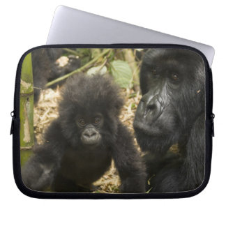 Mountain Gorilla, adult with young Laptop Sleeve