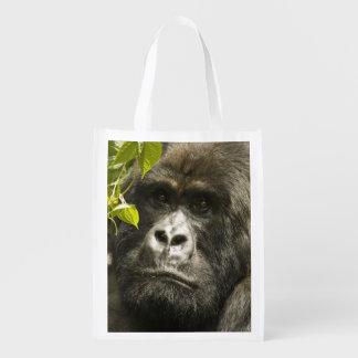 Mountain Gorilla, Gorilla beringei beringei, Reusable Grocery Bag