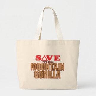 Mountain Gorilla Save Large Tote Bag