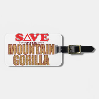 Mountain Gorilla Save Luggage Tag