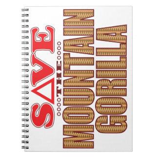 Mountain Gorilla Save Spiral Notebook