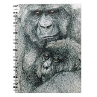 Mountain Gorillas Spiral Notebook