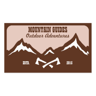 Mountain Guide Adventure Double-Sided Standard Business Cards (Pack Of 100)