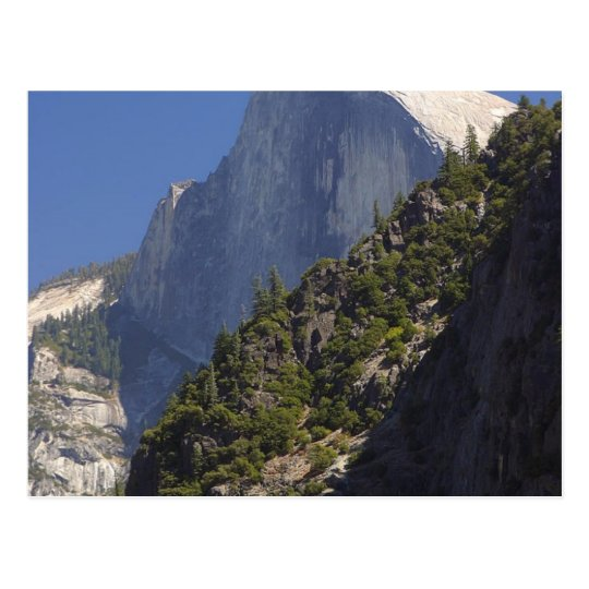 Mountain Half Dome Yosemite Streams Postcard
