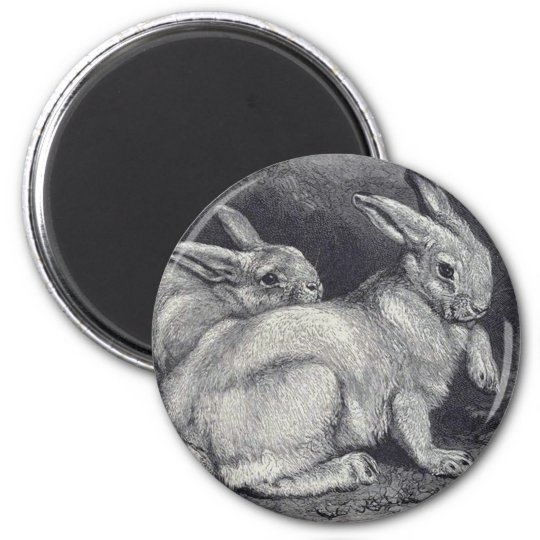 Mountain Hares 6 Cm Round Magnet