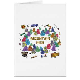 Mountain High Camp Tee Shirt Design '07 Greeting Card