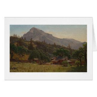 Mountain home (1083) greeting card