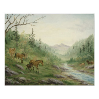 Mountain Horses Poster