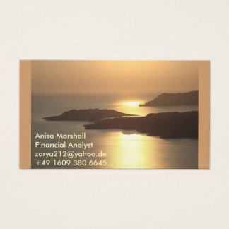 Mountain Island Sunset-Santorini Business Card