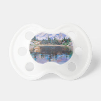 Mountain lake baby pacifiers