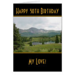Mountain Lake - Happy 30th Birthday Card