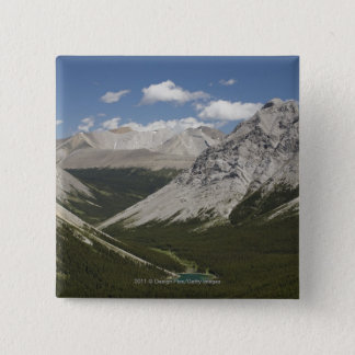 Mountain Lake In A Valley With Blue Sky 15 Cm Square Badge