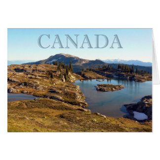 Mountain lake in British Columbia Card