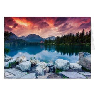 Mountain lake in National Park High Tatra 2 Card