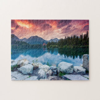 Mountain lake in National Park High Tatra 2 Jigsaw Puzzle