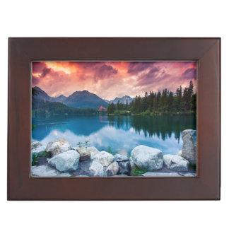 Mountain lake in National Park High Tatra 2 Memory Boxes